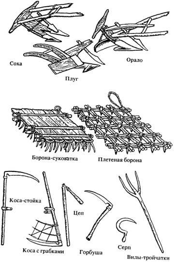 Орудие труда древних кристьян