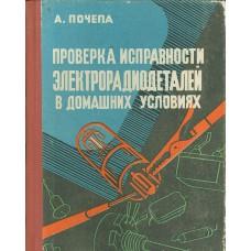 Почепа А. М. Проверка исправности электрорадиодеталей в до-машних условиях. – Одесса: Маяк, 1968. 220 с.