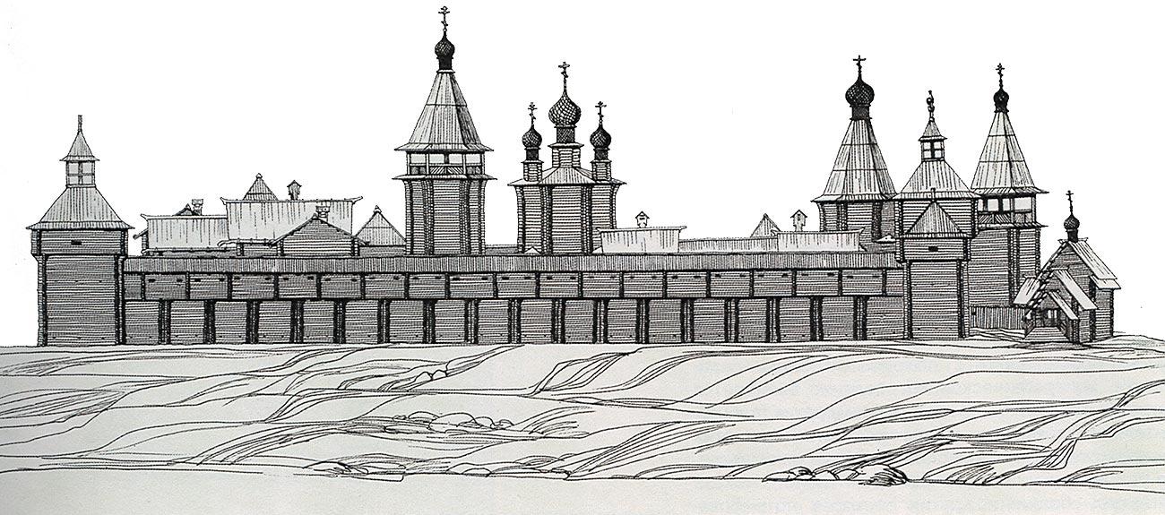 Русский город рисунок