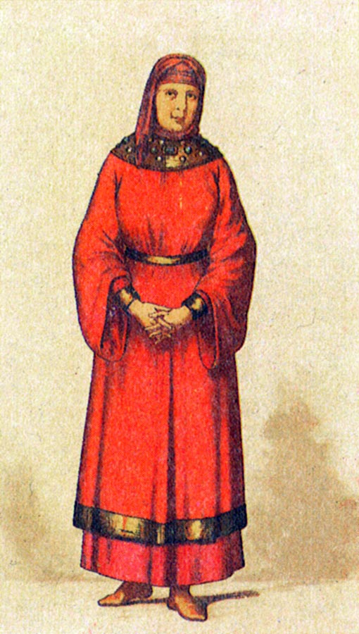 Древнерусская женская одежда картинки
