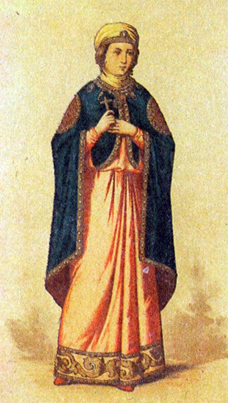 Женские костюмы древней руси