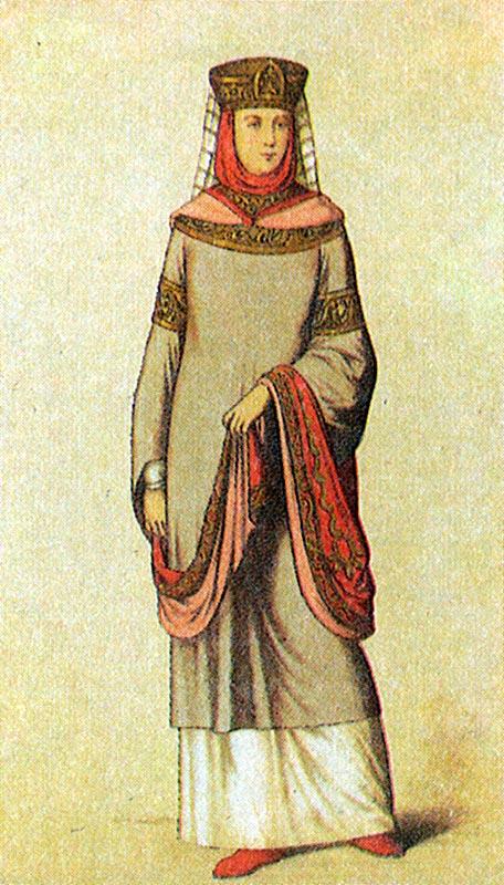 Женская одежда на руси в 16 веке