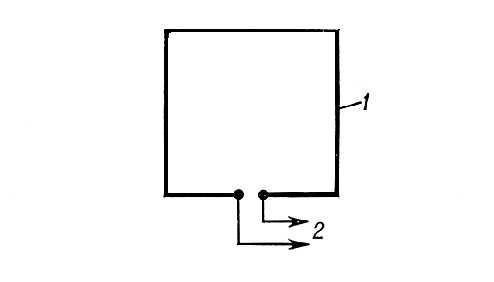 Рис 5 рамочная антенна 1 рамка 2