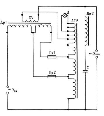 Схема электрическая стабилизатора переменного напряжения сварочный аппарат от розетки 220в