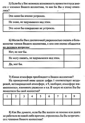 Методики исследования взаимодействия в коллективе
