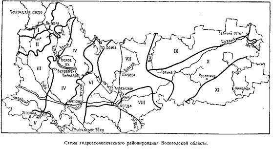 Схема гидрогеологического