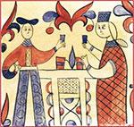 Фрагмент росписи. Короб. Север. XVII век.