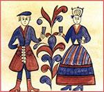 Фрагмент росписи. Короб. Север. Начало XVIII века.