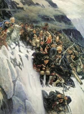 24 сентября. Памятная дата военной истории России. В 1799 году русские войска под командованием Александра Васильевича Суворова совершили героический переход через перевал Сен-Готард в Швейцарии.