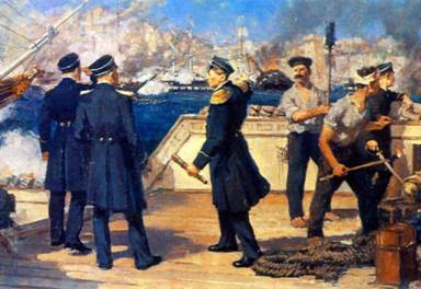 В 1853 году русская эскадра под командованием Павла Степановича Нахимова одержала победу над турецкой эскадрой у мыса Синоп