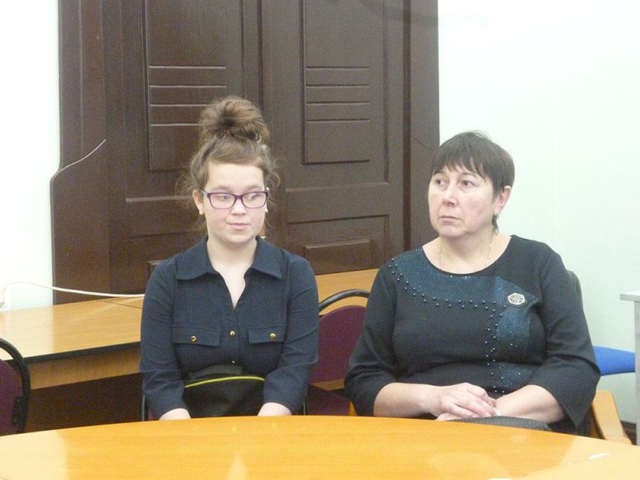 Яна Голубцова, ученица Дубровской основной школы