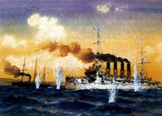 В  этот день в 1904 году российский крейсер «Варяг» и канонерская лодка «Кореец»  геройски сражались с японской эскадрой в бухте Чемульпо