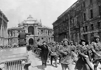 День освобождения Одессы от  Румынско-немецких войск.В этот день в 1944 году войска Малиновского освободили  Одессу от фашистов‹