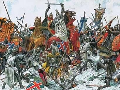 В 1242 году  русские воины князя Александра Невского одержали победу над немецкими рыцарями  на Чудском озере