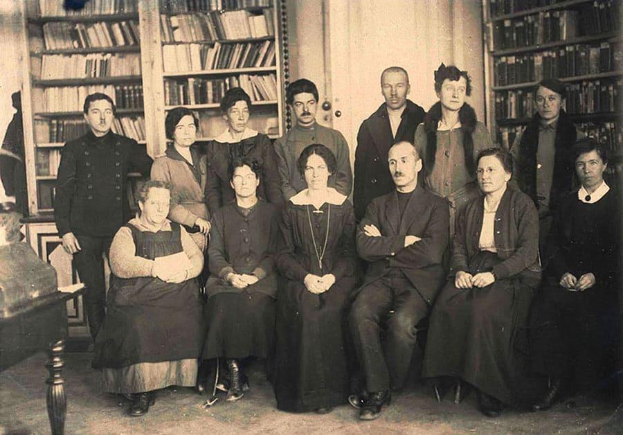 1920 год. Сотрудники Вологодской Советской Публичной библиотеки