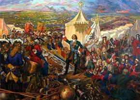В 1709 году русская армия под командованием Петра Первого одержала победу над шведскими войсками в Полтавском сражении /></span></p> <h4 style=