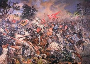 В этот день в 1410 году русские войска и их союзники одержали победу над немецкими рыцарями в Грюнвальдской битве