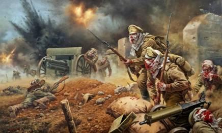 В этот день в 1915 году защитники  крепости Осовец, против которых немцы применили отравляющие газы, смогли  подняться в контратаку